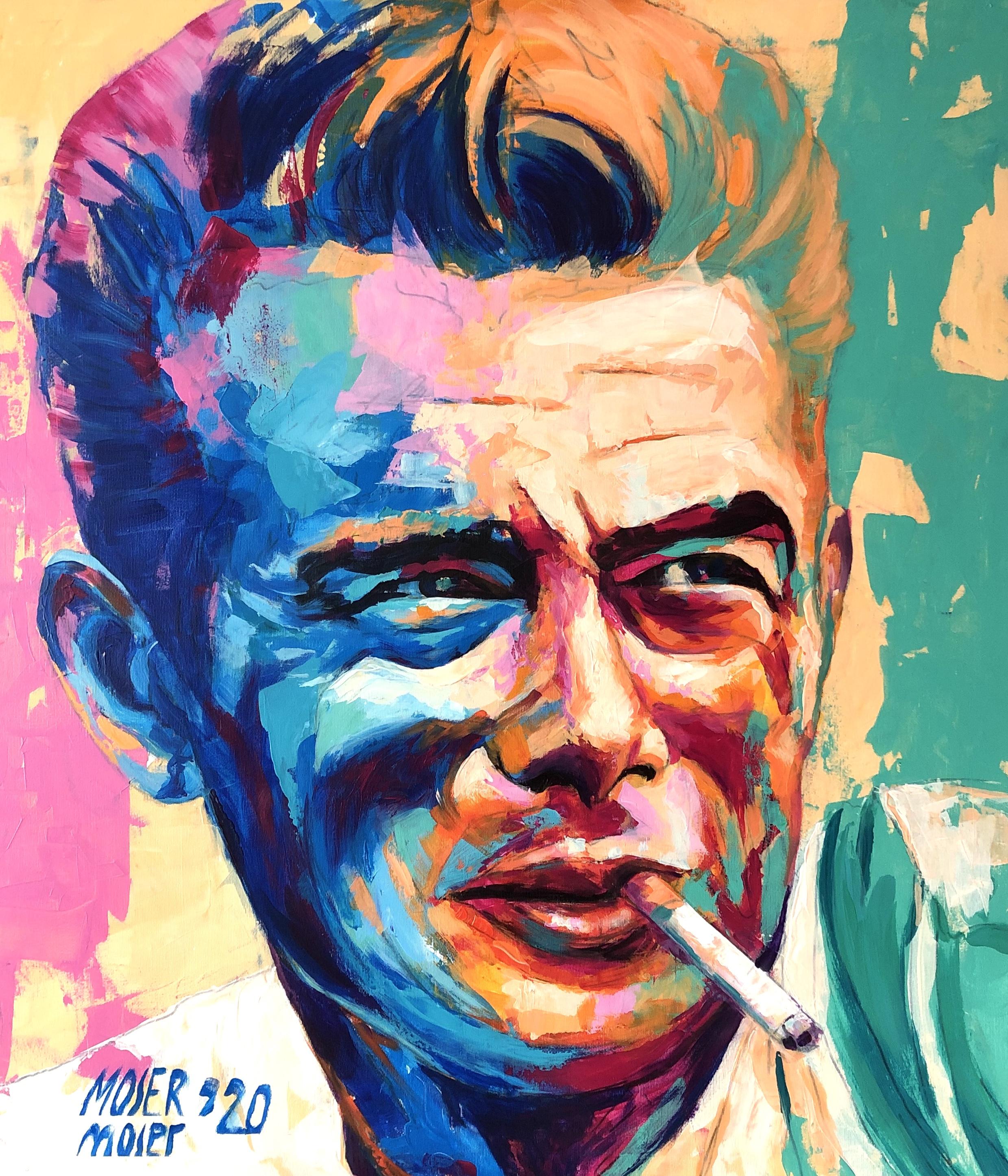 James Dean Portrait Gemälde