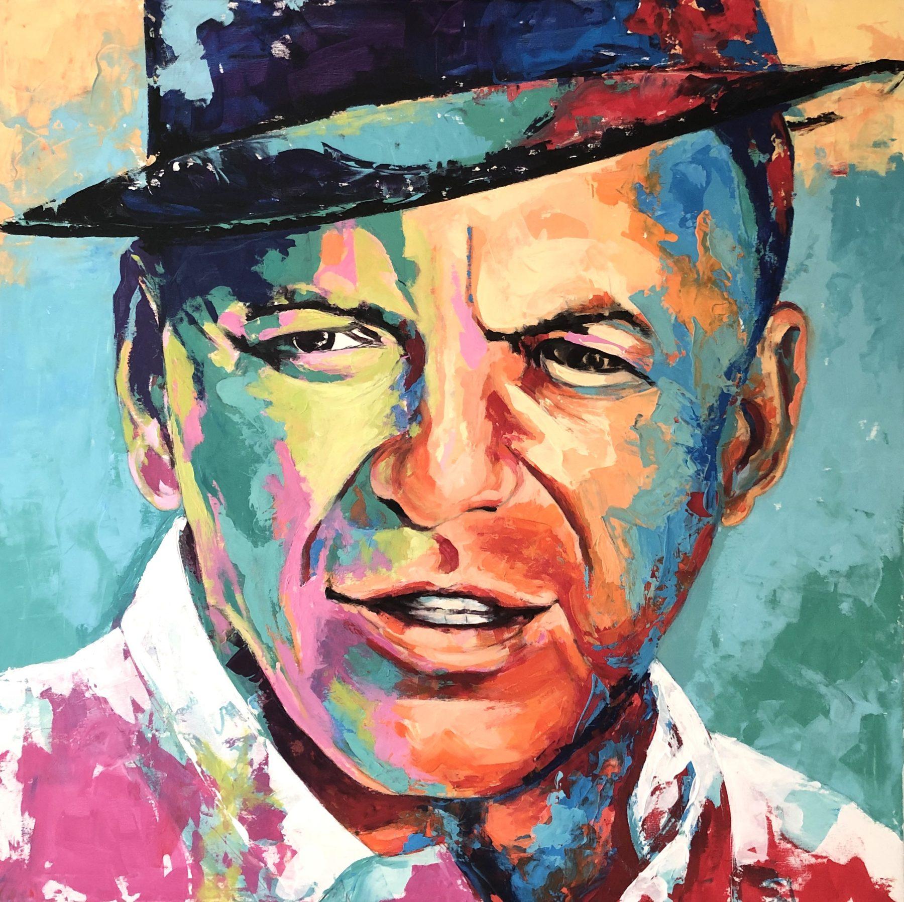 Frank Sinatra Portrait Gemälde